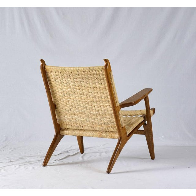 Hans Wegner CH-27 Lounge Chair For Sale In Los Angeles - Image 6 of 10