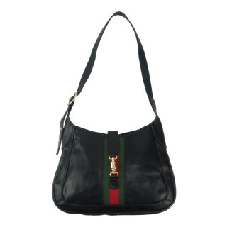 Equestrian Style Italian Black Leather Handbag for Neiman Marcus, C.1970 For Sale