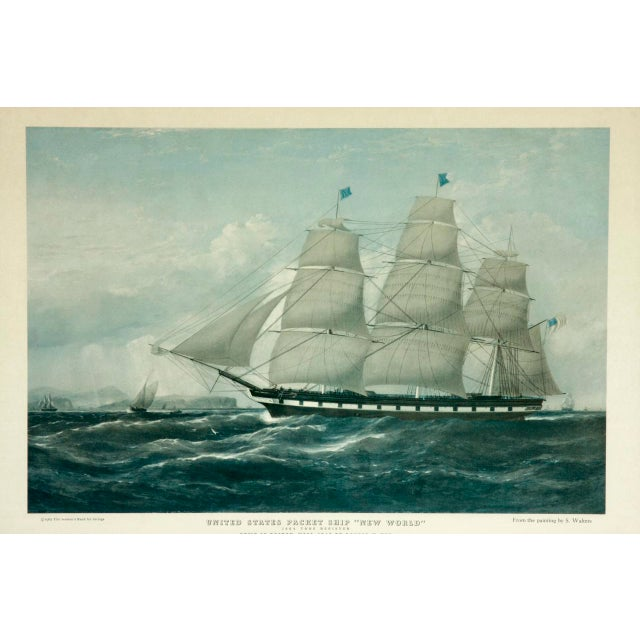 United States Packet Ship Nautical Prints - A Pair - Image 3 of 11