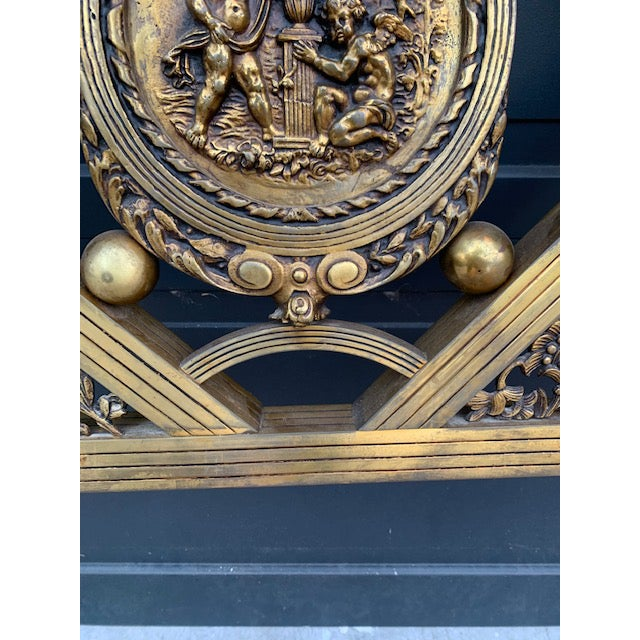 French Art Deco Brass Bed in Full For Sale In Los Angeles - Image 6 of 8
