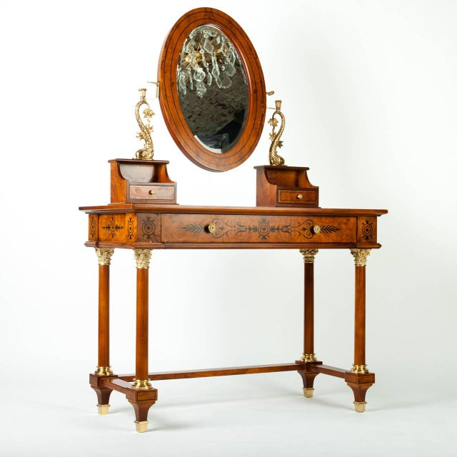 Traditional Vanity With Detachable Mirror For Sale - Image 3 of 4