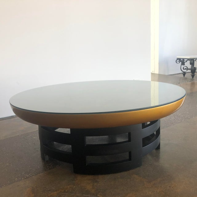 Kittinger Asian Theodore Muller Lotus Coffee Table for Kittinger With Glass Top For Sale - Image 4 of 7