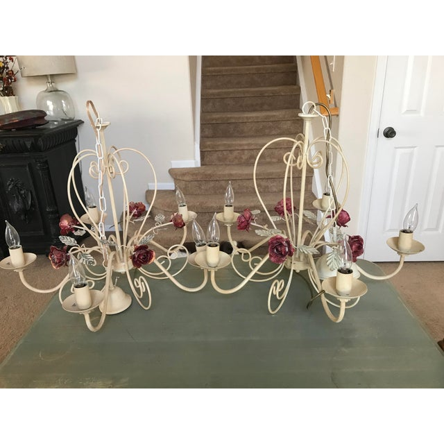 Antique European Rose Chandelier - A Pair - Image 2 of 4
