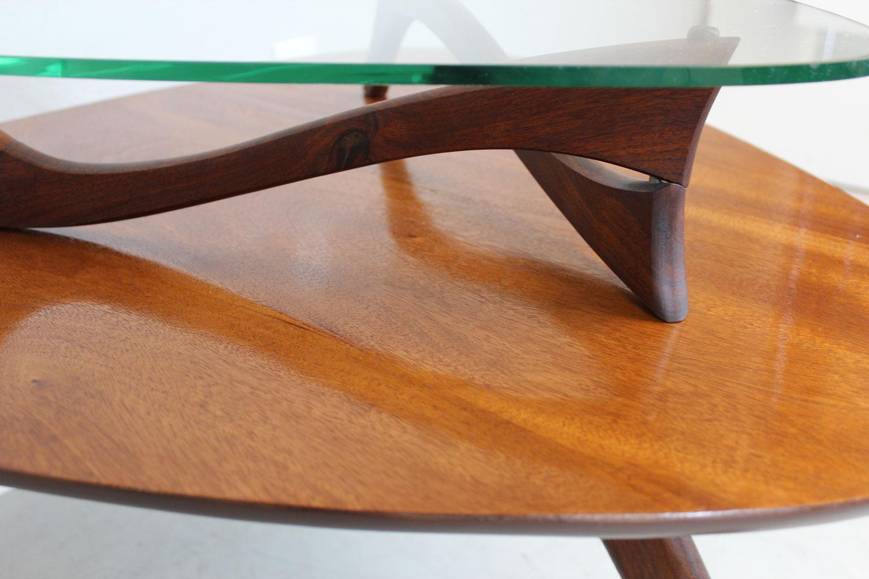 Vladimir Kagan Style Two Tier Side Table   Image 4 Of 9