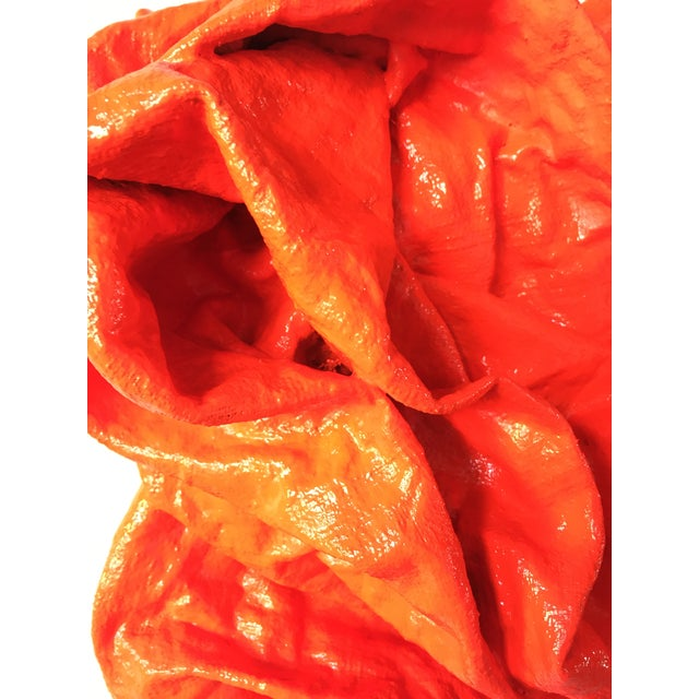 """""""Fluorescent Grenadine Folds"""" Mixed Media Wall Sculpture For Sale In Aspen - Image 6 of 8"""