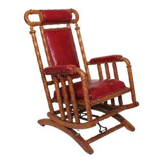 Hunzinger Oak Platform Rocking Chair