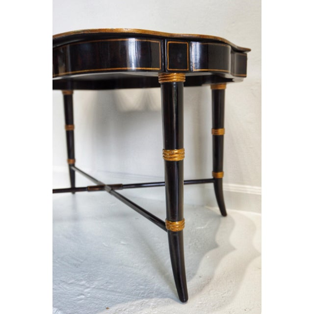 Mid 20th Century Vintage Mid-Century Regency Style Papier Mache Tray Table For Sale - Image 5 of 11