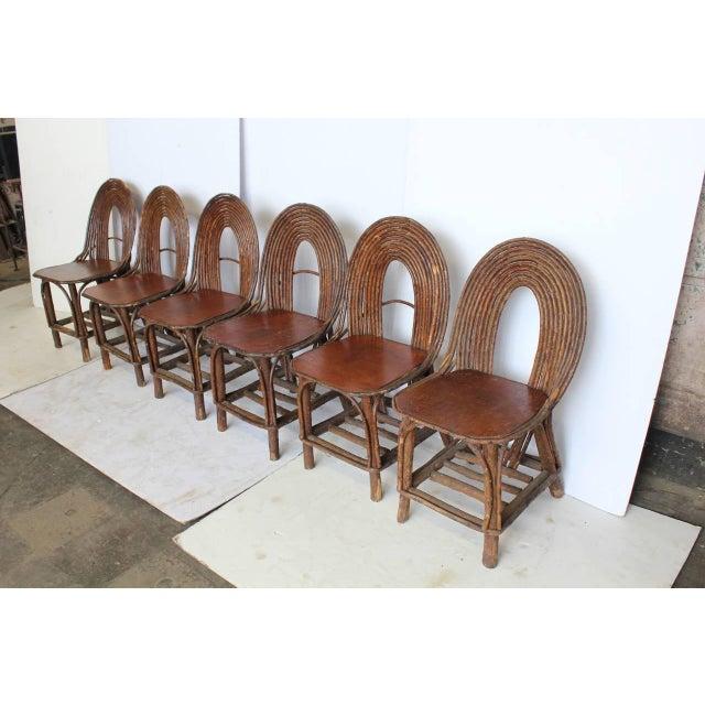 Antique Adirondack dining chairs. Set of six.