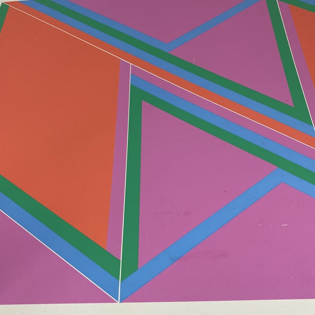 """1970s David Leverett Signed and Numbered """"Untitled"""" Serigraph Unframed For Sale In New York - Image 6 of 13"""