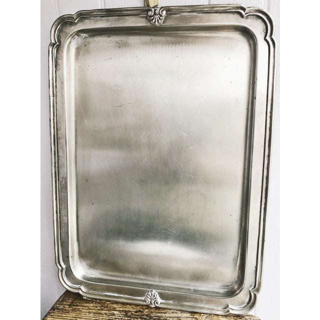 A stunning antique circa 1900-1910s silver plated New York Central & Hudson River Railroad serving tray. In excellent...