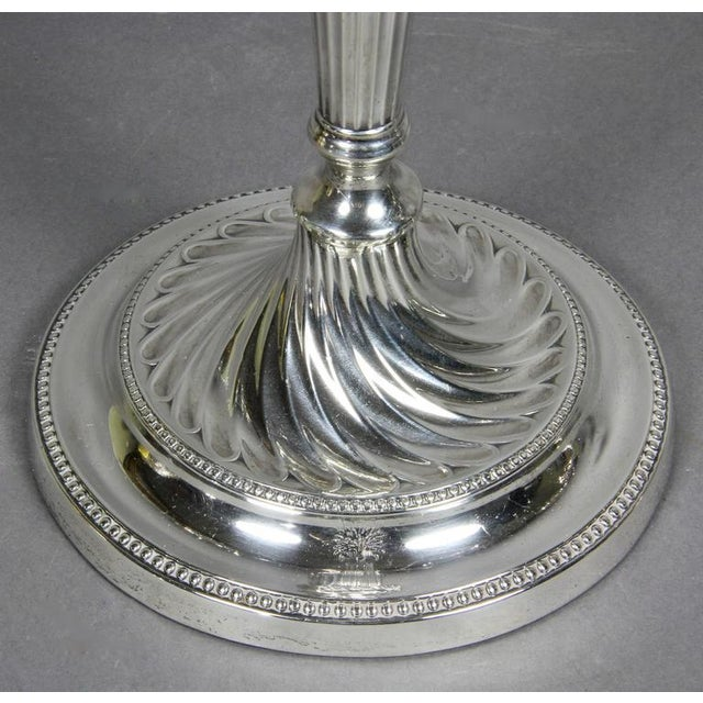 Pair of George III Sterling and Sheffield Plate Candelabra For Sale In Boston - Image 6 of 10