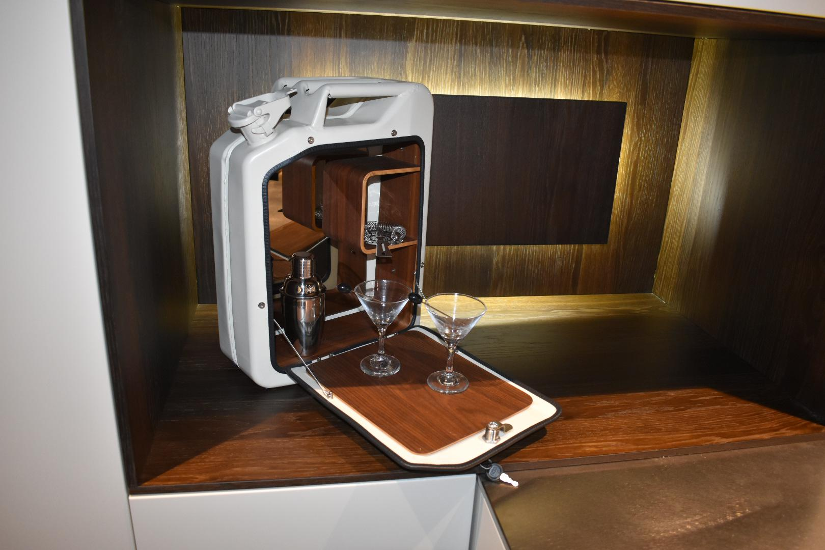 2010s Danish Fuel White Bar Cabinet For Sale   Image 5 Of 9