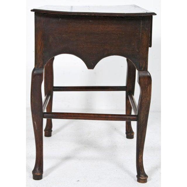 Edwardian Early 20th Century Edwardian English Oak Dressing Table / Lowboy For Sale - Image 3 of 11