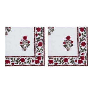 Amaya Napkins, Red - a Pair For Sale