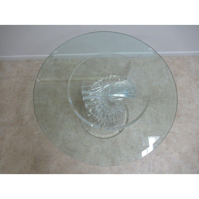 Vintage Interior Concepts Stack Lucite Dinette Dining Table For Sale - Image 4 of 11