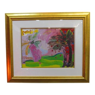 Psychedelic Palm Trees Serigraph Print by Peter Max For Sale
