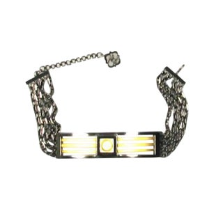 1980s Karl Lagerfeld Graphic Choker For Sale