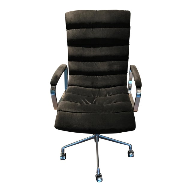 rh oviedo upholstered desk chair chairish