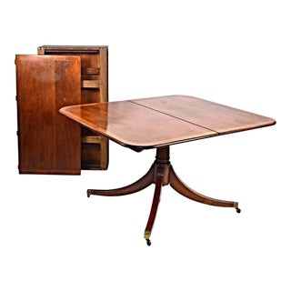 Sheraton Style Mahogany Banded Dining Table For Sale