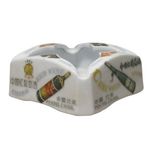 Chinese Advertising Porcelain Ashtray For Sale