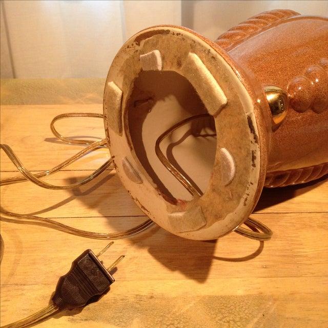 Deco Cocoa & Gold Ceramic Lamp - Image 9 of 10