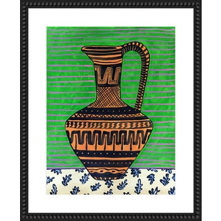 """Medium """"Green Pitcher"""" Print by Jelly Chen, 26"""" X 32"""" For Sale"""