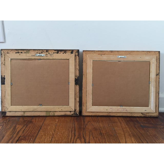 Bamboo Framed Chinese Silk Paintings - Pair - Image 3 of 3