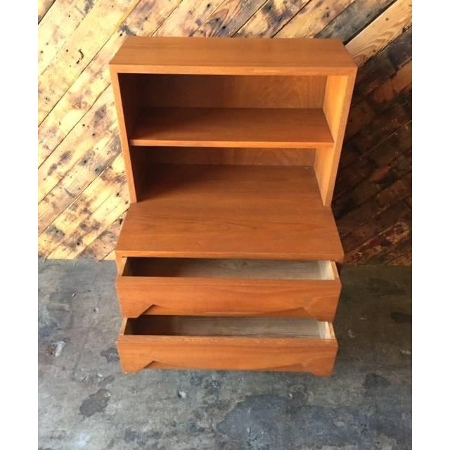 Mid-Century Sculpted Drawer Nightstand - Image 5 of 6