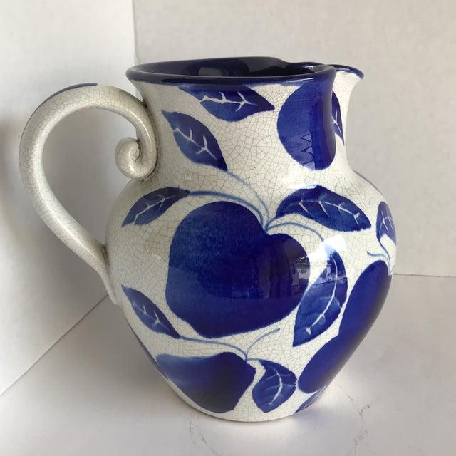 Italian Blue White Pitcher Vase Chairish