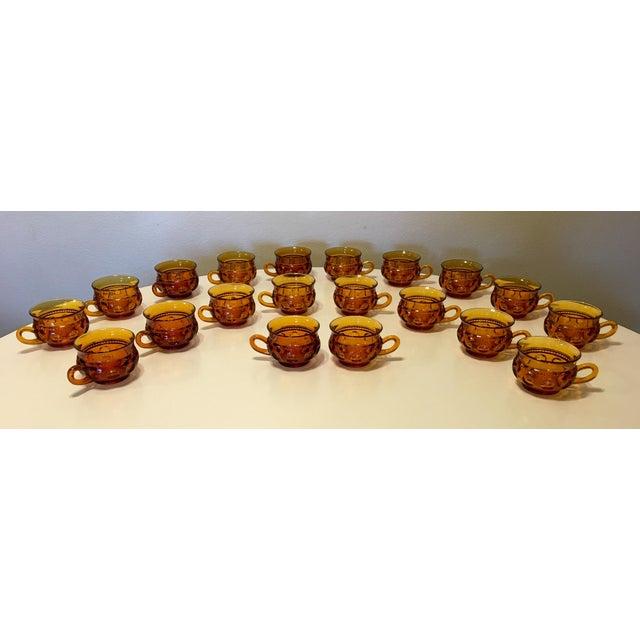 Vintage Amber Kings Crown Coffee Cups - Set of 20 - Image 2 of 6