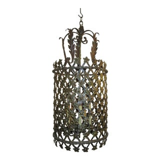 Tole Lantern in Cylinder Style For Sale