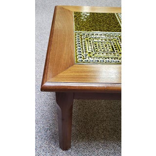 Vintage Glazed Green Tile Top Coffee Table C.1970s Preview