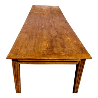 Circa 1880s Farmhouse Oak Dining Table