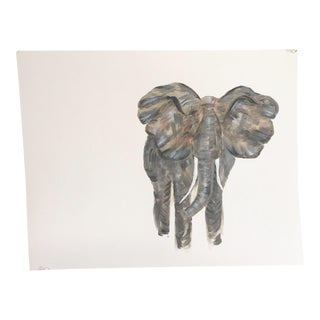 Impressionist Elephant Original Painting For Sale