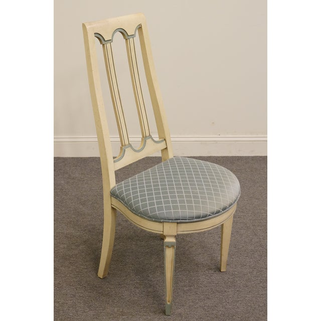White Late 20th Century Vintage American of Martinsville Cotillion Collection French Provincial Chair For Sale - Image 8 of 8