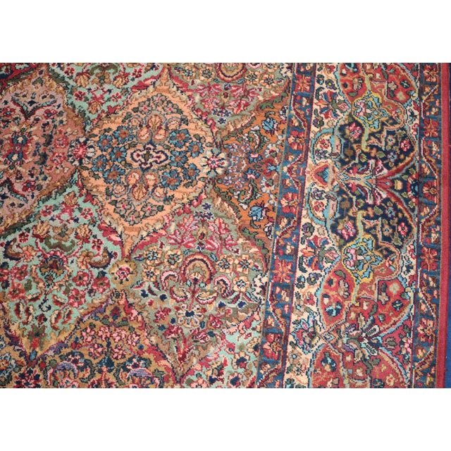 Late 20th Century Karastan Kirman Multicolor Rug - 8′7″ × 10′8″ For Sale - Image 5 of 9