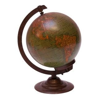 Petite Illuminated Glass Globe by George F. Cram Co. For Sale