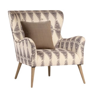 Zena Patterned Arm Chair For Sale