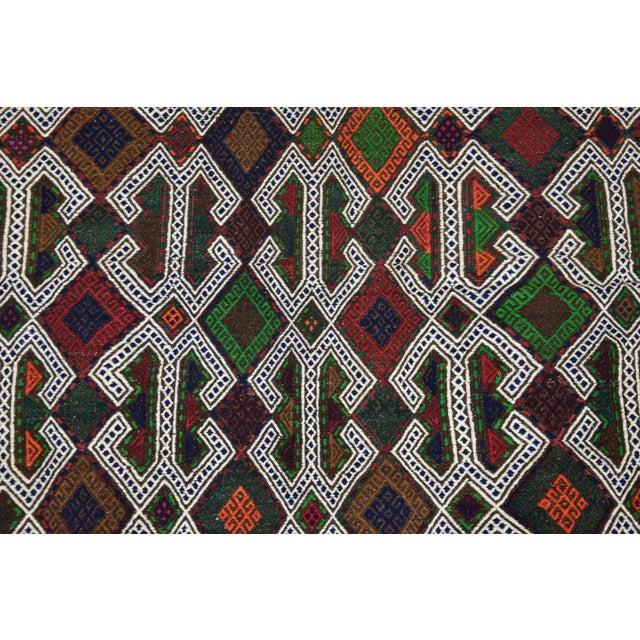 Southwestern Wool Kilim - 3′11″ × 4′3″ - Image 3 of 8