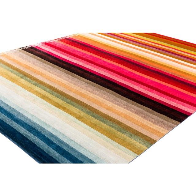 Contemporary Silk Multi Colored Area Rug, 9'x12' For Sale - Image 4 of 10