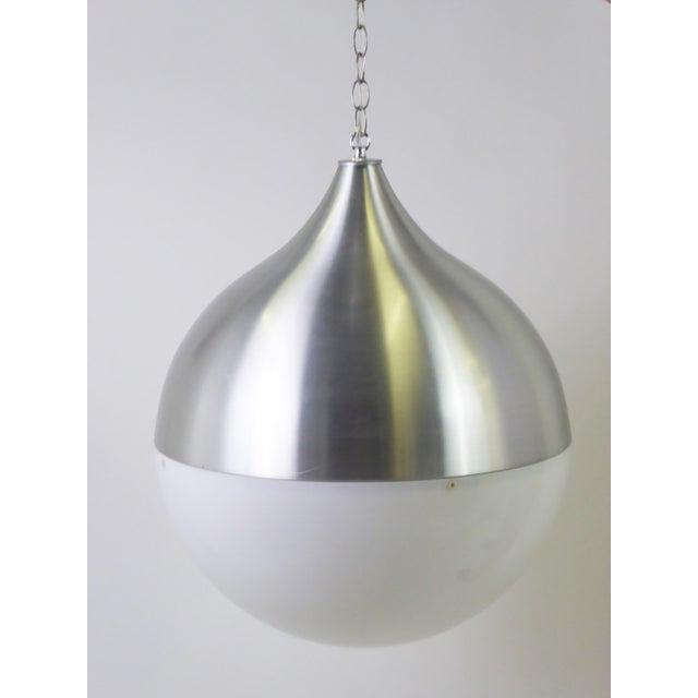 1960s Danish Modern Aluminun & Acrylic Teardrop Shaped Globe For Sale - Image 11 of 13
