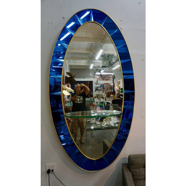 1950s Stunning Crystal Arte Mirror For Sale - Image 5 of 5