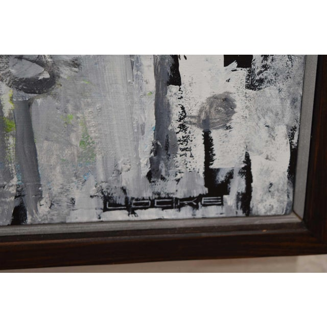 """Original work by Larry Locke, (American b. 1959) with frame. 62"""" x 62"""". From the artist """" I was born in Gray County, in..."""