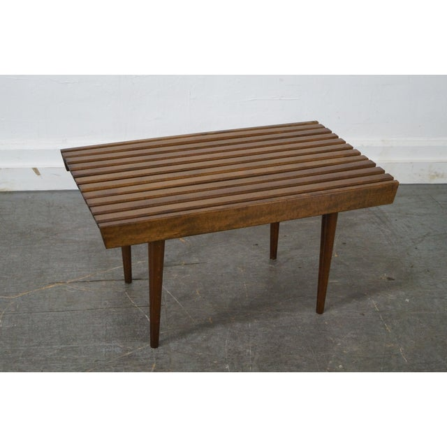 Mid-Century Modern Slat Tables / Benches - Pair - Image 9 of 10