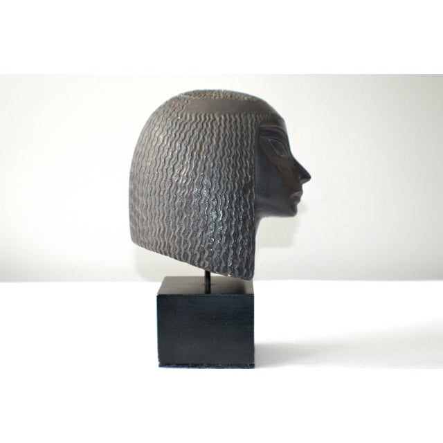 Vintage Fred Press Eygptian Female Sculpture - Image 3 of 10