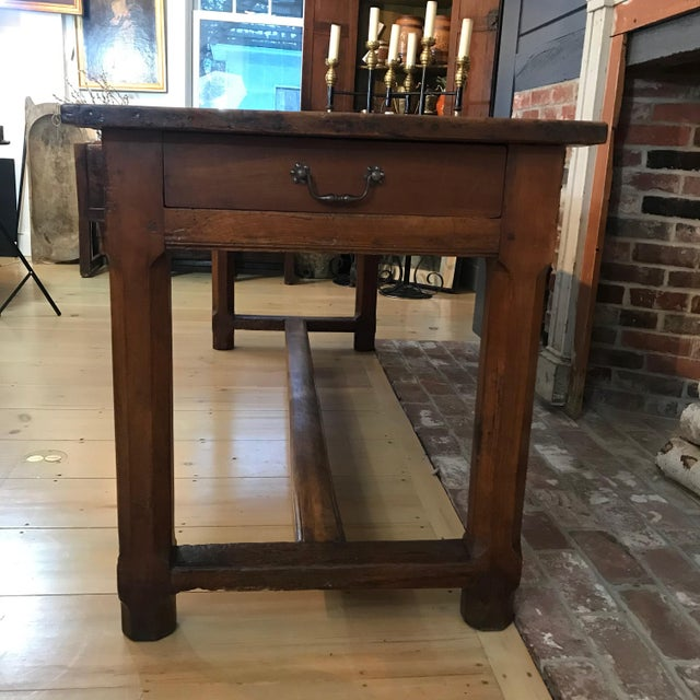 French 19th Century Walnut Farmhouse Table From Provence For Sale - Image 11 of 13
