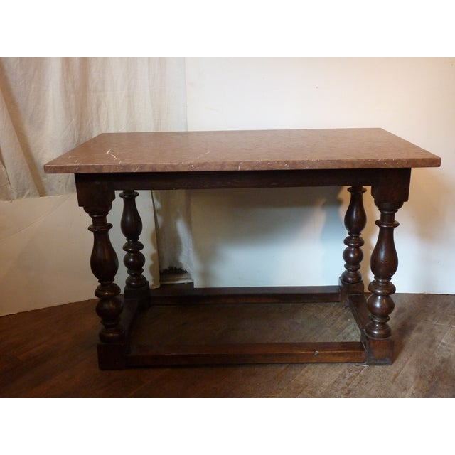 Baroque Style Oak Table For Sale In Boston - Image 6 of 6