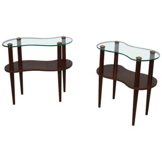 Gilbert Rohde Two-Tier Cloud End Tables For Sale
