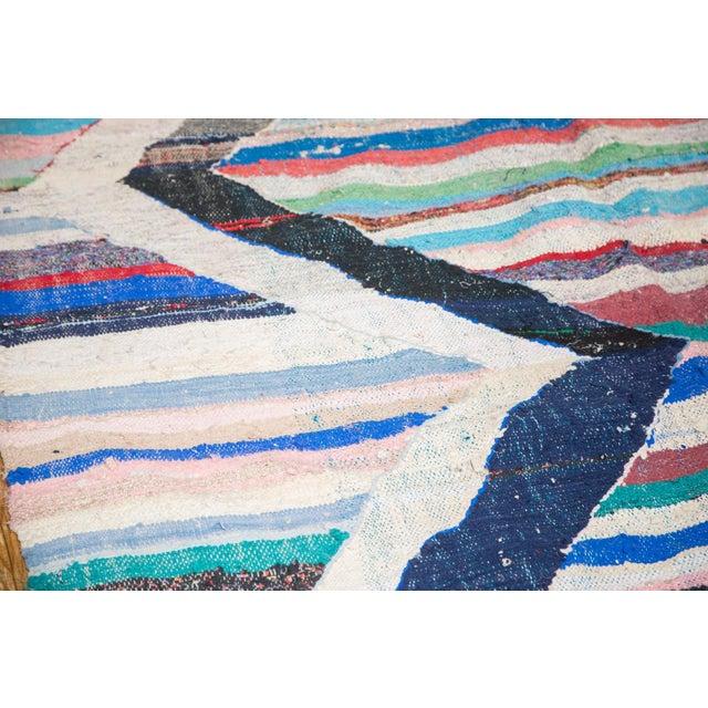 """Boho Chic Vintage Rag Rug Runner - 5'3"""" X 10'11"""" For Sale - Image 3 of 9"""