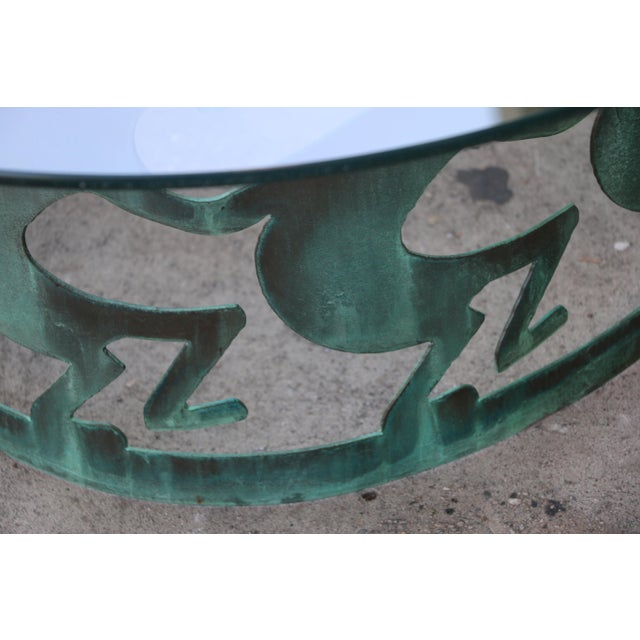 Vintage Beautiful Low Bronze Coffee Table For Sale - Image 11 of 12